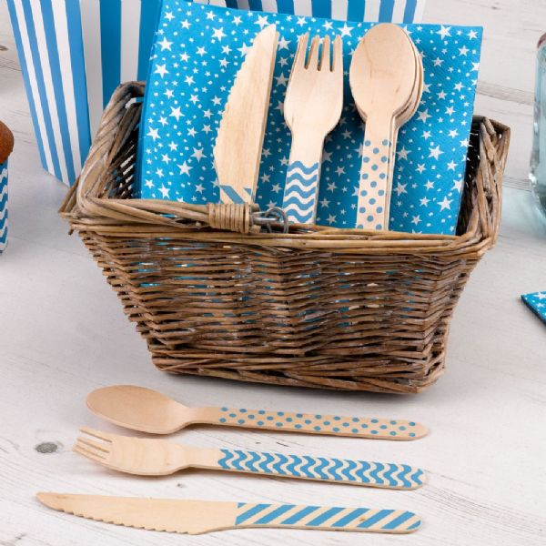 Carnival Blue Cutlery Set (24)
